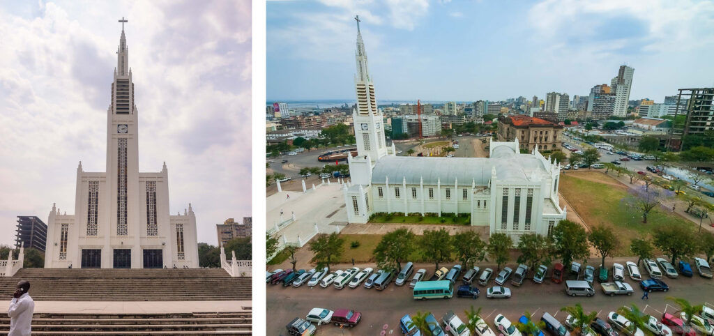 Catedral de Maputo - Front and aerial view